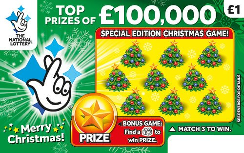 £100,000 Christmas scratchcaed