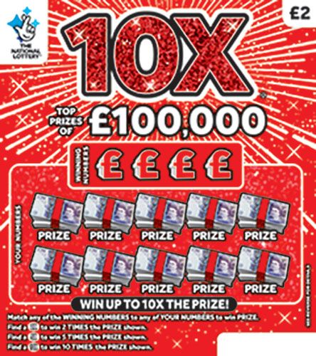 10X scratchcard