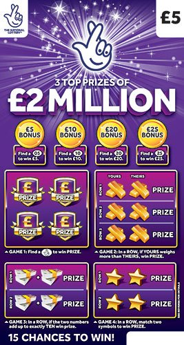 2 million purple scratchcard