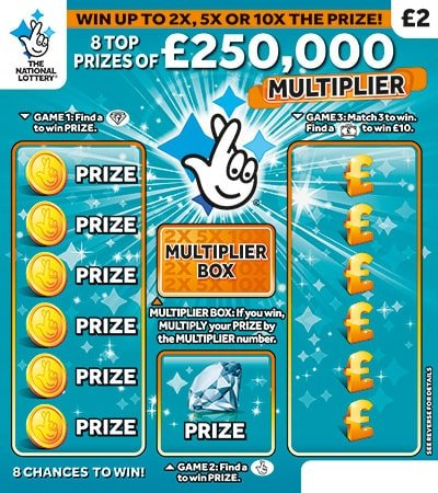 250,000 multiplier scratchcard