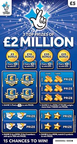 2 million blue scratchcard