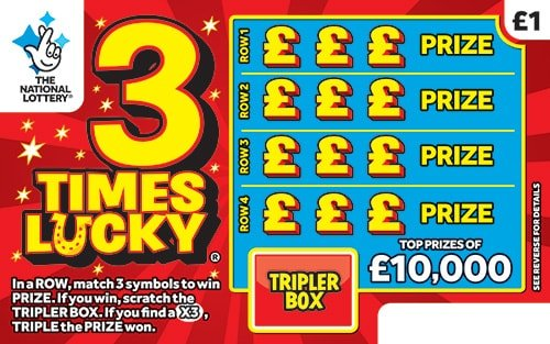 3 times lucky scratchcard