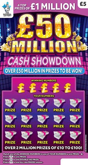 50 million mega cash showdown scratchcard