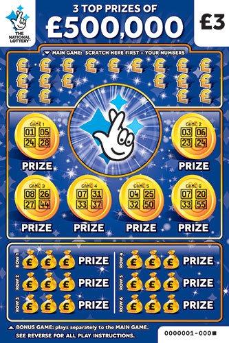 500k bonus blue scratchcard
