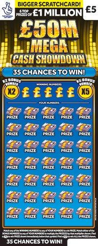 mega cash showdown scratchcard