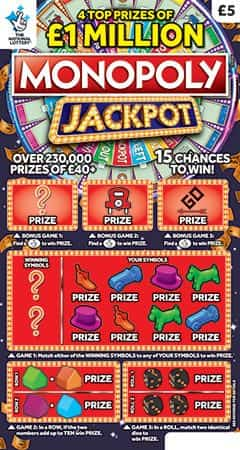 Monopoly Jackpot Scratchcard