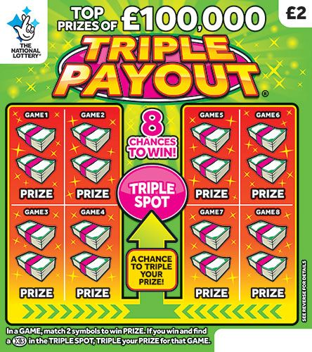 Triple Payout Scratchcard