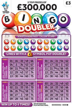 bingo doubler white scratchcard