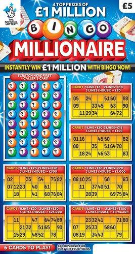 bingo millionaire scratchcard