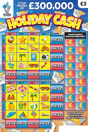 holiday cash scratchcard