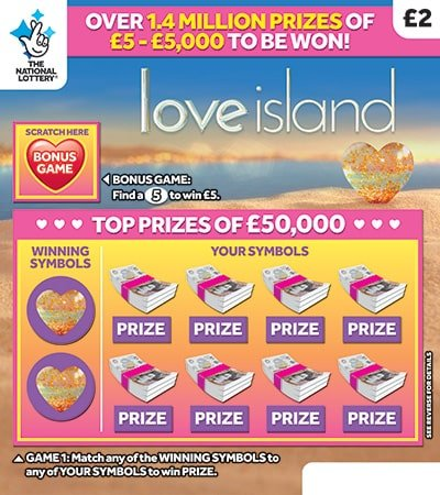 love island scratchcard