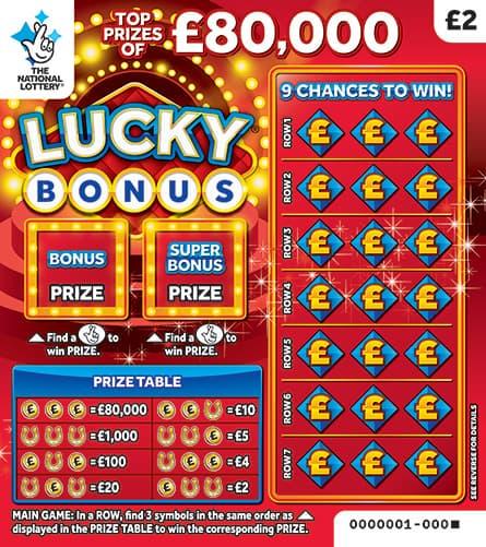 lucky bonus 2019 scratchcard