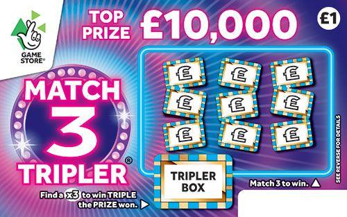 match 3 tripler scratchcard