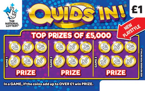 quids in scratchcard