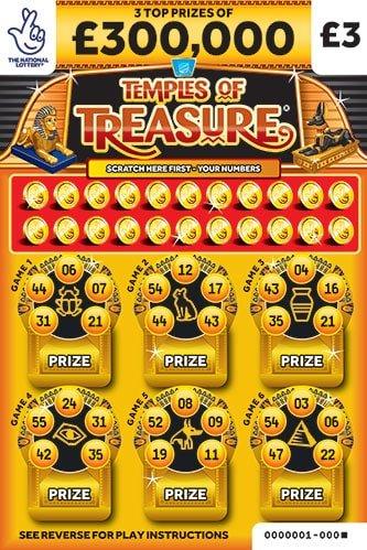 temples of treasure scratchcard