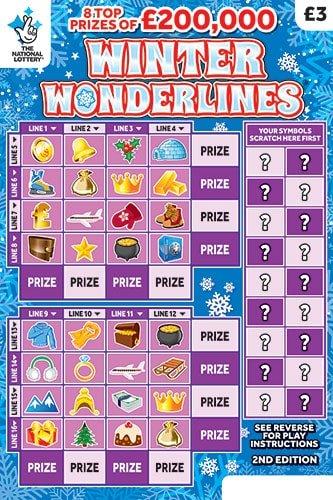 winter wonderlines 2019 scratchcard