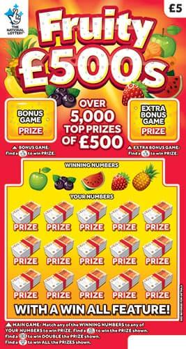 fruity 500s 2020 scratchcard