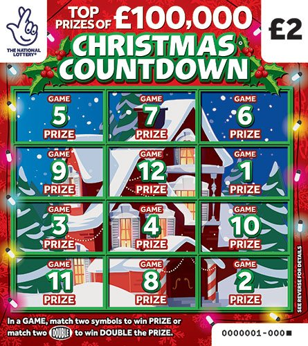 christmas countdown 2020 scratchcard