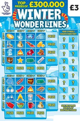 winter wonderlines 2020 scratchcard