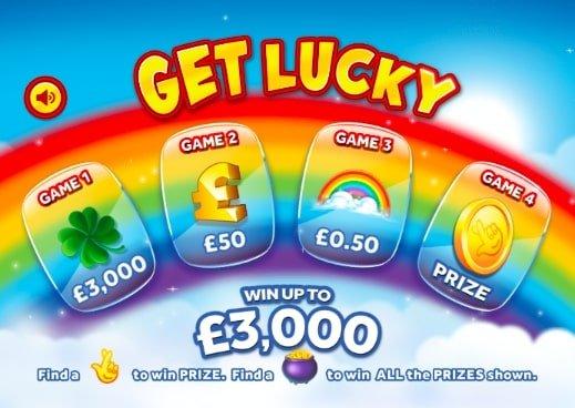 Get Lucky Instant Win Screenshot