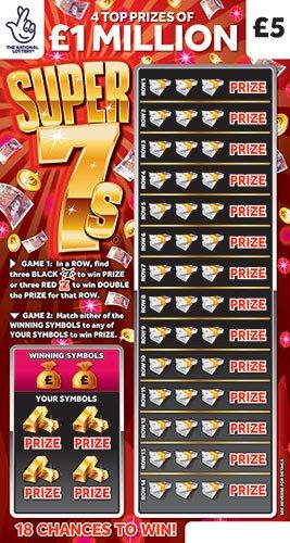 Super 7s 2021 Scratchcard